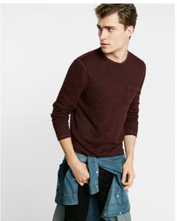 Express Marled Long Sleeve Crew Neck Tee