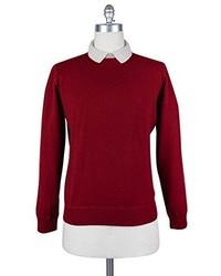 Luigi Borrelli New Burgundy Red Sweater Small48