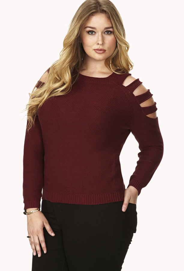 Forever 21 Plus Size Cutout Shoulder Sweater Where To Buy How To