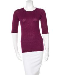 Lela Rose Short Sleeve Cashmere Sweater