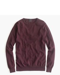 Slim cotton cashmere crewneck sweater medium 333109