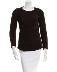 Etoile Isabel Marant Toile Isabel Marant Leather Trimmed Crew Neck Sweater