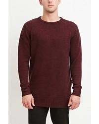Forever 21 Vented Hem Marled Sweater