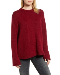 d8a581310574 Burgundy Crew-neck Sweaters for Women