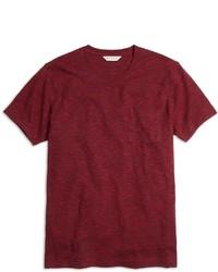 Brooks Brothers Slub Crewneck Pocket Tee Shirt