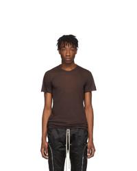 Rick Owens Burgundy Basic T Shirt