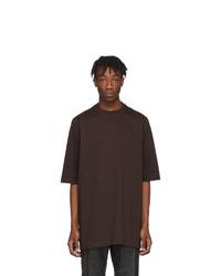 Rick Owens Burgundy Heavy Jersey T Shirt