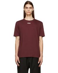 Maison Margiela Burgundy Jersey T Shirt