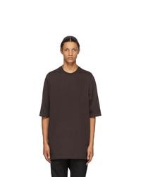 Rick Owens Burgundy Jumbo T Shirt