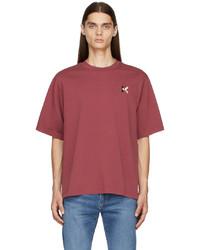 Kenzo Burgundy Loose Fit K Logo T Shirt