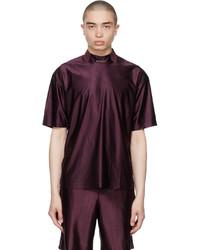 Acne Studios Burgundy Piping T Shirt