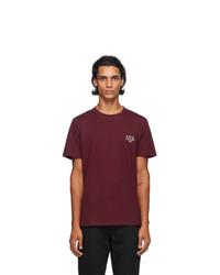 A.P.C. Burgundy Raymond T Shirt
