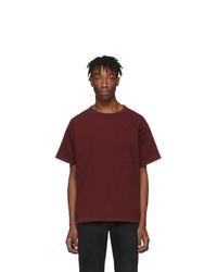 John Elliott Burgundy University T Shirt