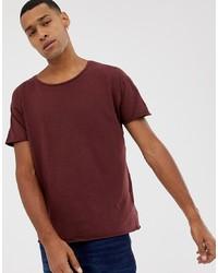 Nudie Jeans Co Roger Slub T Shirt In Plum