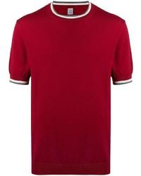 Eleventy Contrast Trim Short Sleeve T Shirt