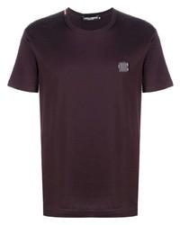 Dolce & Gabbana Logo Plaque Cotton T Shirt