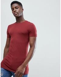 e8a3d4e9 Men's Burgundy Crew-neck T-shirts by ASOS DESIGN | Men's Fashion ...