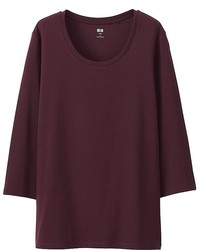 Uniqlo Supima  Cotton 34 Sleeve Crew Neck T Shirt