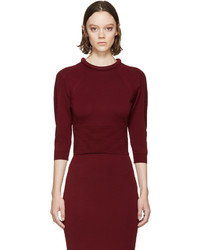 Burgundy padded neckline sweater medium 372264