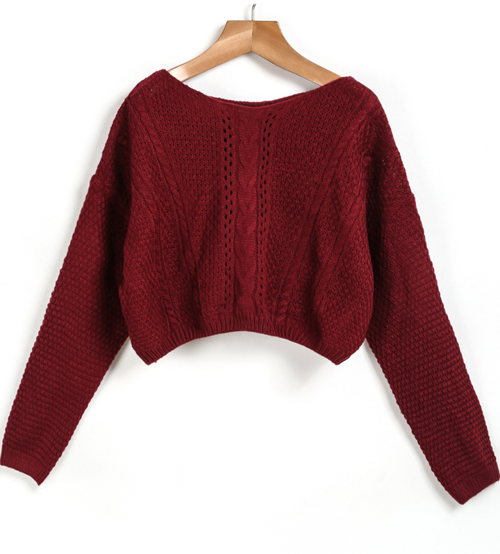 Cable Knit Crop Red Sweater | Where to buy & how to wear