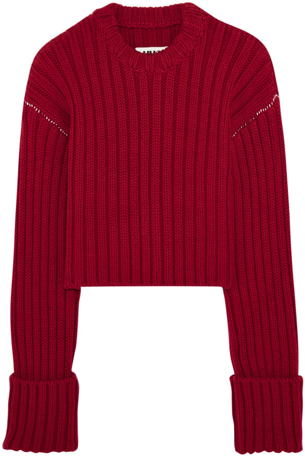 MM6 MAISON MARGIELA Cropped Wool Sweater | Where to buy & how to wear