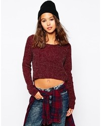 Only Rib Knit Sweater Red