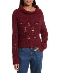 Tigris crop turtleneck sweater medium 5262360