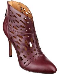Nine west darenne cutout leather booties medium 134299
