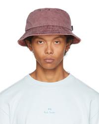 Ps By Paul Smith Burgundy Denim Bucket Hat