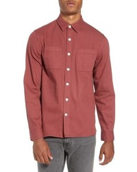 Saturdays Nyc Nolan Washed Denim Sport Shirt