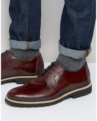 Ted Baker Men's Burgundy Derby Shoes