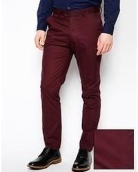 Burgundy Dress Pants Men