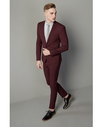 Topman Burgundy Slim Fit Suit Trousers | Where to buy & how to wear