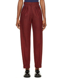 Roksanda Burgundy Wool Marre Trousers
