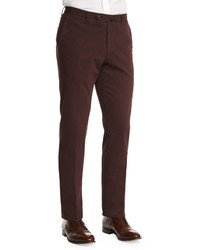Standard fit brushed stretch cotton pants burgundy medium 392582
