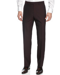 Calvin Klein X Fit Burgundy Solid Slim Fit Pants