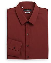Dolce & Gabbana Regular Fit Woven Dress Shirt