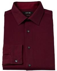 Apt. 9 Slim Fit Glow Solid Wrinkle Resistant Spread Collar Dress Shirt