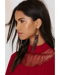 Factory Angelina Suede Hoop Earrings Burgundy