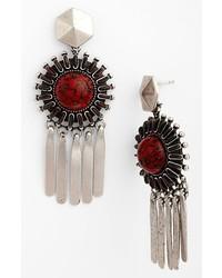 Dannijo Satvi Earrings Silver Red