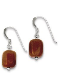 goldia Sterling Silver Red Aventurine Earrings