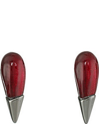 Alexis Bittar Liquid Metal Capped Spike Post Earrings