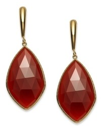 Macy's 14k Gold Over Sterling Silver Earrings Red Onyx Drop Earrings