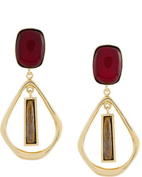 Isabel Marant Rectangular Stone Drop Studs