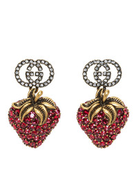 Gucci Red Crystal Earrings