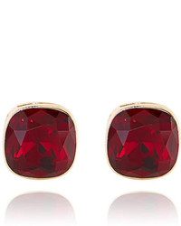 The Limited Square Faux Gem Earrings