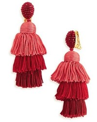 Tiered tassel drop earrings medium 4344427