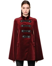 PIERRE BALMAIN Embellished Military Velvet Cape