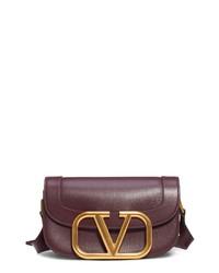 Valentino Garavani V Logo Leather Shoulder Bag