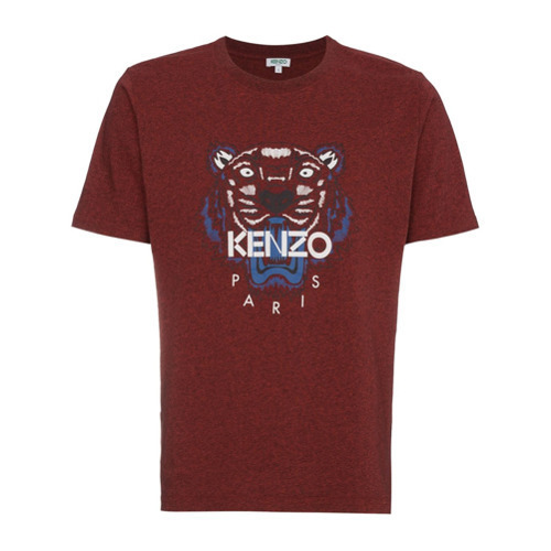 1a242340 Kenzo Burgundy Red Tiger Logo T Shirt, $143 | farfetch.com ...